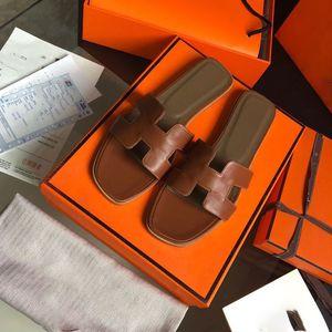 Hermes sandals With box 2020 새 슬리퍼 샌들 플랫 신발 진짜 가죽 슬라이드 최고 품질 슬리퍼 샌들 Huaraches 여성 Eu를 들어 로퍼 슬리퍼 : 35-40877
