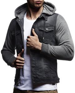 Щитовые Mens Дизайнер Жан куртки вскользь однобортный Карман Mens с капюшоном Жан пальто Повседневный Самцы Одежда