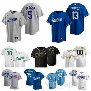 2020 Baseball 21 Walker Buehler Jersey 13 Max Muncy Gavin Lux Luke Raley Zach McKinstry Edwin Rios Bianco Squadra Blu Uomini Kid Donne