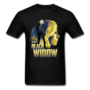 Black Widow T Shirt Men Endgame Avengers Tops & Tees Avengers 4 T-Shirts Resurgence Justice League Tshirts