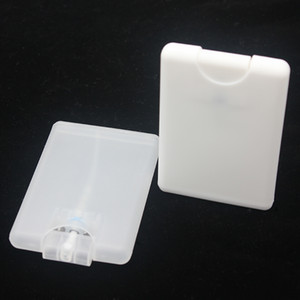 Cartão Forma Perfume Spray Garrafas por atacado 20ml PP Plástico Vazio Cosmético Recipiente Recarregável Atomizador Frasco Perfume