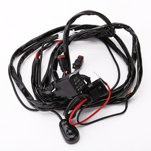 led light bar work light driving light 2 lights 150W wiring kit with DT connector wiring harness AWG 16 copper cable 12V 3M