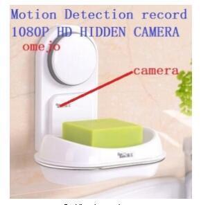 1080 P HD Hareket Algılama Sabun Kutusu Pinhole Kamera Banyo Kamera DVR