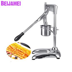 BEIJAMEI En Gros 30cm Français Fries Maker Presser Manuel Pommes De Terre Puces Cutters Machine Longs Français Fries Presse-agrumes