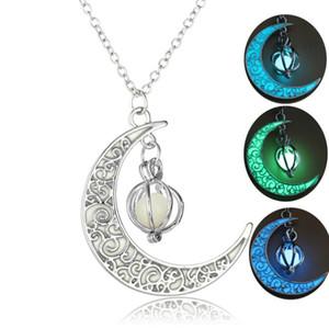 Luz de noche Bead moon pumpkin Luminous pendant light stone Glow In The Dark collar Christmas Halloween gift hombres mujeres