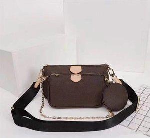 Designer Shoulder Bags 3 piece handbags for women original leather lady messenger bag satchel cross body bag package purse wholesale