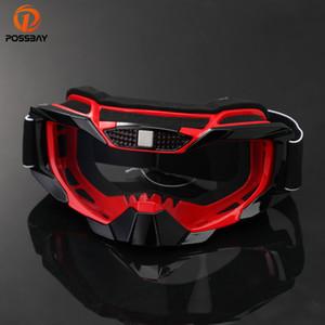 POSSBAY motocicleta Googles vidrios de ciclo de protección UV Gafas de esquí deportes al aire libre Gafas Moto gafas para los vidrios de Sun