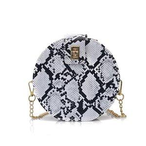 Sac Vintage ronde fourre-tout pour femmes 2019 Sacs à main de luxe Femmes Sacs Designer bourse chaîne Mode Serpentine Sacs à bandoulière Crossbody