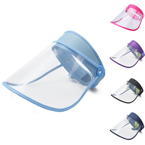 Réutilisable Full Face Shield couverture transparente anti Droplet clair Masque de cuisson Splash en plastique souple respirateurs double face Film Ju9