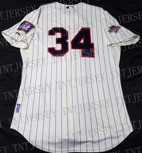 Retro por atacado baratos Kirby Puckett Jersey costurado personalizar qualquer nome número MEN Vintage Jersey