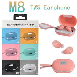 TWS-M8 USB Wireless Bluetooth5. 0 3.1 V 250mAh Settereo Heads Touch Control Sport Earnephones Portable Mic Headfeons Sport Earbuds