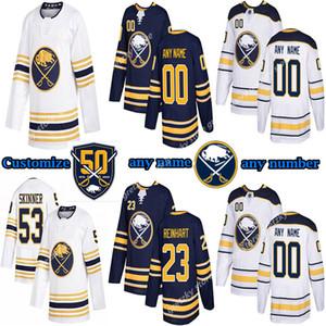 Custom Men's Kids Women's Buffalo Sabres jerseys 9 Jack Eichel 26 Dahlin 53 Skinner RISTOLAINEN Customize any number any name hockey jersey