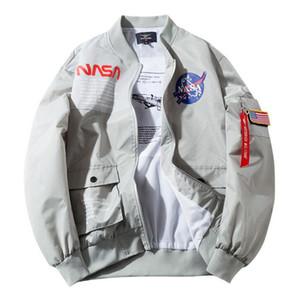 2019 Autunno Mens Designer Giacche Brand New NASA Flight Pilot Casual Coat MA1 Bomber Jacket Letter Giacche a vento stampate Capispalla 9661