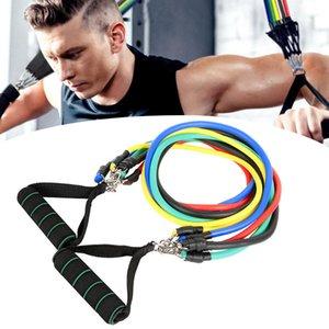 Direnç Gruplar Set 11pcs Açık Kapalı Spor Elastik Direnç Gruplar Egzersiz Egzersiz Pilates Yoga Crossfit Spor Tüpler Çekme Rope kiti
