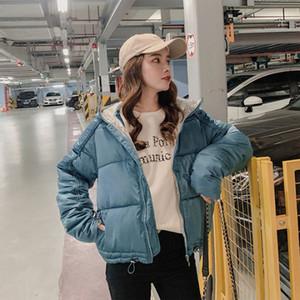 TYJTJY 2019 causal algodón de las señoras chaqueta acolchada corto otoño invierno de la chaqueta con capucha de las mujeres Wadded abrigos de invierno Mujer Parkas