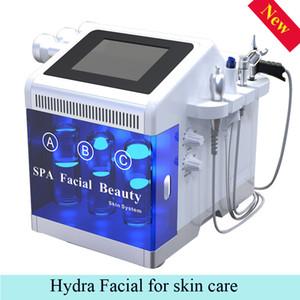 bio microcorriente luz levantar la máquina facial 5 en 1 máquina para blanquear la piel cuidado de la piel microdermabrasión diamante LED