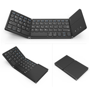 tragbare Mini faltbare Tastaturen Bluetooth drahtlose Tastatur mit Touchpad Maus für Windows, Android, iOS, Tablet ipad, Telefon drahtlose Tastatur
