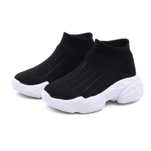 MHYONS Enfants Casual Chaussures Filles Sneaker pour la course Garçons Casual Chaussures En Plein Air Anti-Glissante Fly tricot enfants Chaussettes Chaussures Sneaker T200421