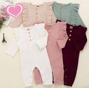 2020 Bébés filles garçons rayé barboteuses bébé Stripe Tenues Automne Boutique Enfants Tricoté Réchauffez Bodies Tenues enfants Vêtements d'escalade