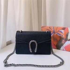 Dionyius Crossbody сумка женщины сумки кошельков цепь плечо сумка 400249 CAOGN 8176 классическая черные подарочная коробки выбор 3 размера