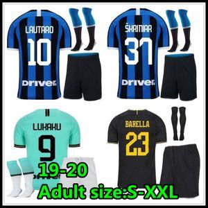 19 20 Inter Fußball-Trikot Lukaku LAUTARO ICARDI Perisic Nainggolan milan Fußballhemd 2019 2020 ALEXIS Škriniar Erwachsenen Kit S-XXL