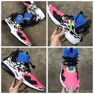 2018 nike air presto ACRONYM® x Lab Presto Mid Racer Rose Photo Bleu Chaussures de course pour hommes Femmes Top Quality acronyme de prestos Air Sport Trainers