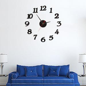 Relógio de parede 3d Art espelho traseiro original Big Número Assista Diy Relógio de parede Decor Decal Adesivo Decoração moderna Grande Modern