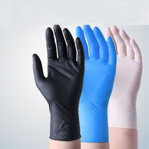 Factory High Quality Disposable Gloves 100 Waterproof Natural Rubber Latex Nitrile Durable Protective Gloves Fast shipping