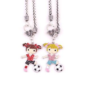 Huilin Wholesale Sport Series Football Girl necklaces For Shinning Jewelry Necklaces for women's and childrens' gift