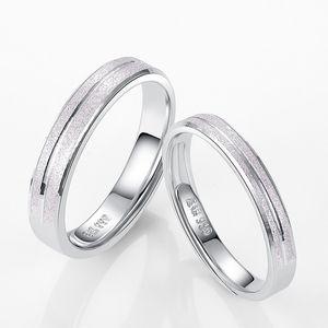 S999 Belas Silver Ring japonês homens coreanos e mulheres da moda simples Dull polonês Flower Car casal anéis ajustáveis gratuito Let