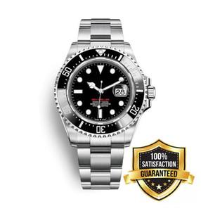 Boutique Loisirs Affaires Automatique Lunette En Céramique Sea-Dweller Cadran Noir 43 mm en acier inoxydable 316L 116660 Montre homme