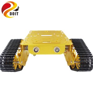 T300 RC metal Robot Tank Car Chassis Crawler para arduino lagartas Caterpillar Cadeia Vehicle Platform Tractor Toy kit