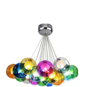 Nordic Kreative Modern Chandelier Minimalist Buntglas-Kugel-hängende Lampen-Beleuchtung-Befestigungs-Personality Cafe Bar Startseite Licht Hanging