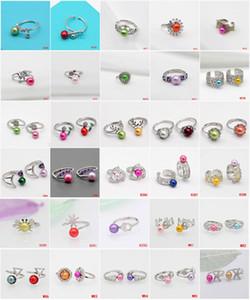 Moda 925 Sterling Silver Pearl anel de montagem 30 estilos ajustável prata Mulheres Anel Titular DIY Montado PN1901 Jóias