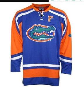 2020 Gators de Flórida Homens Universidade Hóquei Jersey Bordado Personalizar Qualquer Número e Nome Jerseys