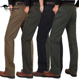 YG6130-A1340 2018 Automne nouveau printemps moyen - pantalon décontracté hommes âgés avec la haute couture pantalon taille pas cher de gros