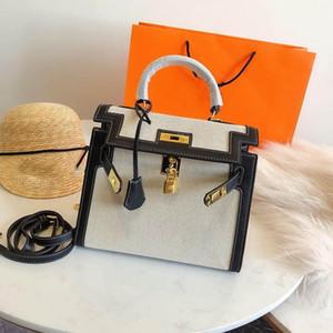 Designer- lüks çanta çanta H K moda kılıf 28cm kanvas malzeme kadınlar tasarımcı çantaları moda totes çanta