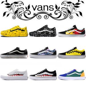 Van Old Skool Off The Wall timore di Dio della gioventù Ragazze Ragazzi scarpe da ginnastica Roccia Fiamma Yacht bianco Sharktooth Skateboard Tela scarpe da tennis di sport