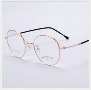 Vintage ovale or jaune cadre 1652 # vintage ovale transparent or lunettes lunettes de lunettes rétro acier jambes lunettes lunettes homme femme métal plaine