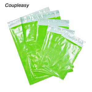 50Pcs Lot Shiny Green Poly Mailer Plastic Shipping Bags Waterproof Mailing Envelopes Self Seal Poly Mailer 8 Sizes Mailing Bags