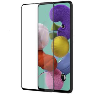9H Tam Kapak temperli cam için Samsung Note10 S10 Lite A10 20 30 50 A60, A90 A70 M10 M20 M30 S A51 A71 Ekran Koruyucu Kavisli Kenar