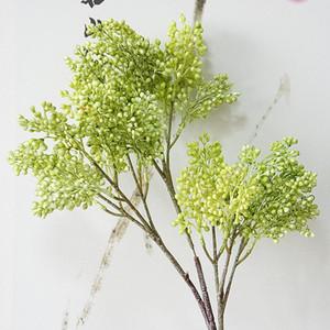 bayas artificiales rama de sorgo para el jardín de la decoración de plástico plantas de flores falsas Flores artificiales