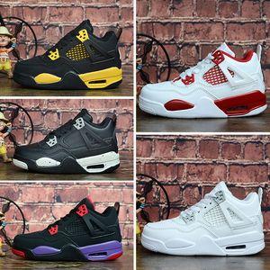 nike Air Jordan 4 Kinderschuhe Basketball-Schuhe Großhandelsneuer 4 Raumstau 10 CNY 4s Turnschuhe Kinder Sport Mädchen Jungen Trainer Größe 28-35