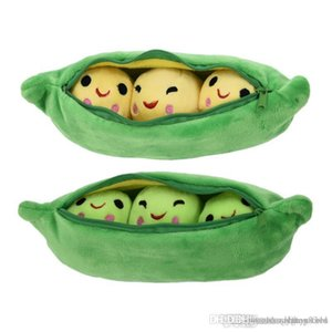 htt Wholesale- MINOCOOL 25 40CM Pea-shaped Pillow Toy Cute Pea Stuffed Plant Doll Girlfriend Kawaii For Children Gift