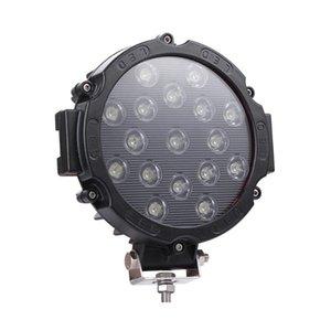 9-30V Work light Lamp Bulbs Accessories 51W LED Black Spotlight Vehicle