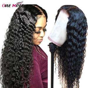 13x4 Lace Front perruques de cheveux humains Pré plumé pour les femmes du Brésil vague profonde dentelle Frontal perruque avec bébé cheveux Remy One More Wig