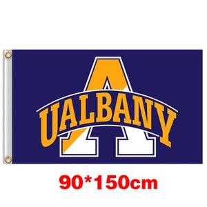 Albany Grande Universidade Danes Bandeira Grande Colégio 150CM * 90CM 3X5FT Polyester Flag personalizado Qualquer Bandeira Bandeira Sports