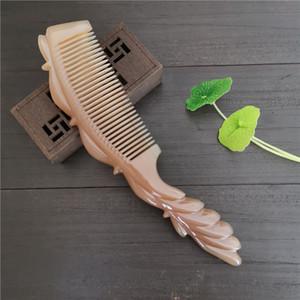 Libero Natural White Buffalo Horn Comb Original-Eco antistatico Coda di cavallo pettine Broad \ denti fini adatto per i capelli lunghi ricci capelli lisci