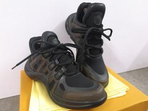 Archlight Sneaker Hommes Noir Femmes Chaussures en cuir véritable Formateurs TPU Semelle extérieure Chaussures Casual Chaussures confortables Runner Chaussures avec Box