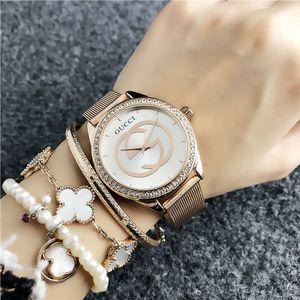 Womens Luxury Designer Uhren 40mm Rose Gold Iced Out Uhr-Mode-beiläufige Art Einfache Digital-Diamant-Dame Uhr reloj mujer Mode